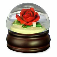 Red Rose Mushroom Water Globe The San Francisco Music Box Company
