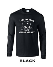 335 I bet she gives great helmet Long Sleeve hip Lord helmet movie funny space
