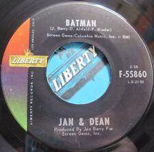JAN & DEAN * 45 * Batman * 1966 * Near MINT VINYL with LIBERTY Sleeve * Bucket T