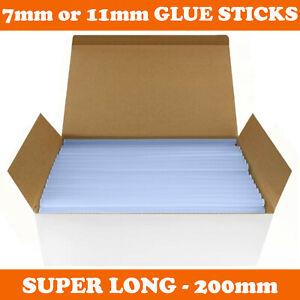 HOT MELT GLUE GUN STICKS 7mm / 11mm x 200mm LONG FOR CRAFT ADHESIVE CLEAR MINI