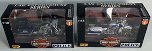 1998 Maisto Harley Davidson 1:18 Scale Die-Cast Virginia & Boston Police Series4