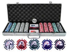 Pro Style Yin Yang Texas Hold Em 11.5g 500 pc Clay Poker Chips + Case Cards Dice