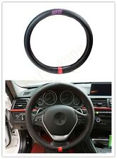 1Pcs For STI Movement Black Carbon Fiber Vip Car Non-Slip Steering Wheel Cover
