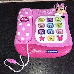 CLEMENTONI DISNEY MINNIE MOUSE Lights & Sound TOY TELEPHONE PLAY & LEARN PHONE