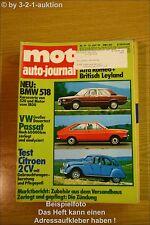 MOT 14/74BMW 518 VW Passat Mercedes 240 D 3.0 Citroen