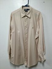"Mens Dress Shirt Size 17.5 Light Peach Gray 34""x35"" Andrew Polo Ralph Lauren 120"