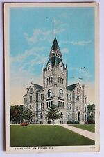 Old postcard COURT HOUSE, GALESBURG, ILLINOIS