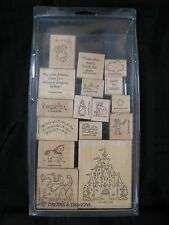 Stampin' Up DREAMS & DRAGONS Set of 18 Rubber Stamps Lot Unicorn Princess Castle
