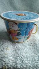 "Enesco Christmas Bears mini bucket 2.5"" high x 3.5"" wide for all your treasures"