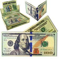 $100 Dollar Bill Bifold Mens Wallet Money Holder (WHOLESALE BULK LOT OF 24X)