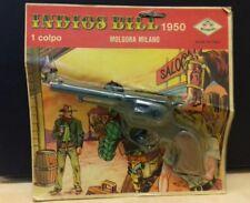 Mondial pistola giocattolo vintage INDIOS BILL 1950  nuova in blister Molgora
