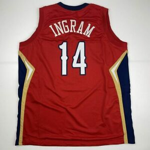 New BRANDON INGRAM New Orleans Red Custom Stitched Basketball Jersey Men's XL