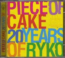 MOJO PRESENTS ~ PIECE OF CAKE ~ 20 YEARS OF RYKO - 20 TRACK PROMO CD ALBUM