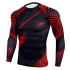 Men Compression Running Thermal Base Layer Gym Sports Long Sleeve Shirt Top Slim