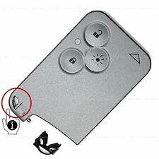 Schlüssel Karte Gehäuse Licht Keyless Go für Renault Laguna Espace Vel Satis