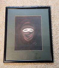 Herrlich ausdrucksstarkes Tuaregportrait. Original Gemälde, kein Druck!