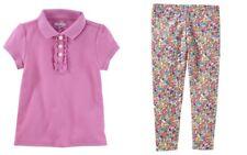 OshKosh BGosh Toddler Girls Lilac Polo Top & Floral Print...