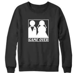 Game over Sweatshirt Bride Groom Wedding Funny Married Couple Anniversary Gift