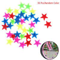36 Pcs Bicycle Bike Wheel Spoke Plastic Star Children Clip Colored DecoratioATA