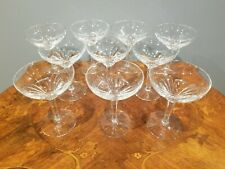 """10 Vintage German Crystal Martini Champagne Coupe Glasses 5.25"""" tall"""