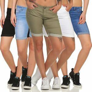 Damen Shorts Jeans kurze Hose Denim Bermuda Jeansshorts Hailys Jenny