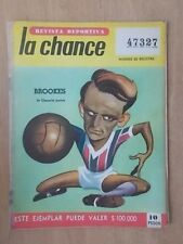 VINTAGE ARGENTINA FOOTBALL MAGAZINE- REVISTA DEPORTIVA LA CHANCE - OCTOBER 1961