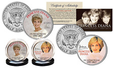 PRINCESS DIANA 20th Anniversary KENNEDY Half Dollar 2-Coin Set - Crown Edition
