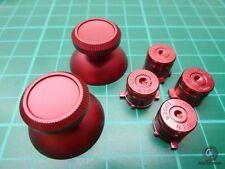 Ps4 controller Button Bottoni MOD Modding PLAYSTATION 4 ALLUMINIO ROSSO