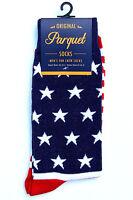 American Flag Men's Socks Novelty Patriotic Star Casual Fashion Red Blue Sock