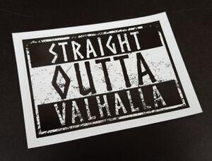 "Precut Viking ""STRAIGHT OUTTA VALHALLA"" Sticker / Decal Thor Odinist Norse Pagan"