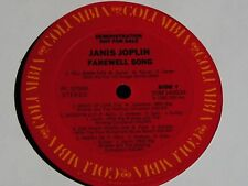 Janis Joplin-Farewell Song-ORIGINAL 1982 US PROMO LP-NEAR MINT!
