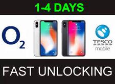 O2 Tesco UK iPhone  5C 5S SE 6 6+ 6S 6S+ 7 7+ 8 8+ X Fast Unlocking Service