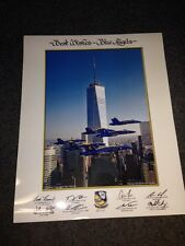 "2014 US NAVY BLUE ANGELS ""One World Trade"" 16 x 20 large LITHO Authentic poster"