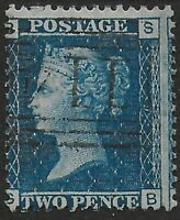 SG45. 2d.Blue Plate 9.Very Lightly Used With Fine Colour & Clean Back. Ref.07184