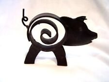 Black Metal Cast Iron Pig Spiral