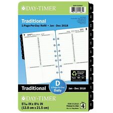 Day-Timer 12010 Dated One-page-per-day Organizer Refill, January-december, 5 1/2