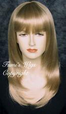 Perruques et toupets blonds longs raides pour femme