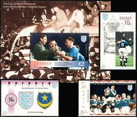 PORTSMOUTH Pompey FA CUP Winners 1939 Football Stamps (Jimmy Guthrie & KGVI)