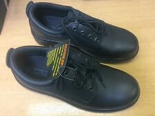 Apache AP306 S3 Black Leather Safety Shoes Mens/Womens Size 11 Steel Toe