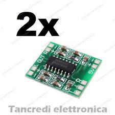 2x Mini modulo PAM8403 amplificatore audio digitale stereo 3W+3W 5V 2x3W arduino