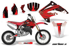 AMR Racing Honda CR85R Graphic Kit Decal Sticker MX Wrap 2003-2007 CARBON X RED