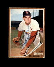 Curt Simmons Hand Signed 1962 Topps St.Louis Cardinals Autograph