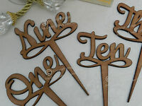 Wedding Table Numbers, Wooden Script Design, Vintage Rustic Weddings, Full Set
