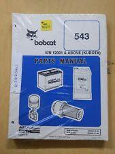 Bobcat Sn 12001 Amp Above Kubota Parts Manual