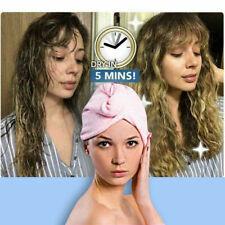 Toalla de microfibra para secado rápido de cabello