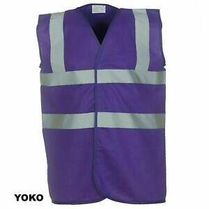 Hi Vis YOKO Vest Purple Reflective Visibility Hi Viz Adult S,M,L,XL,2XL,3XL