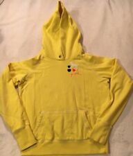 PINK Sweatshirt Hoodie Size Med Yellow