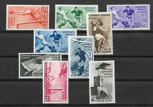 Italy 1934 Airmail / Soccer SASS 357 / 361 + #A69 To A72 Mostly MNH, MC€460 (A90