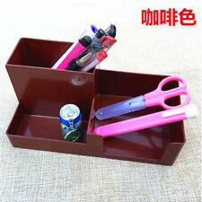 Coffee Office Plastic Desk Pen Pencil Holder Storage Stationery Organizer #JK