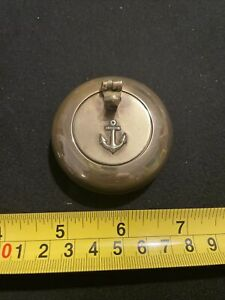 Solid Brass portable Ashtray Vintage Anchor Nautical